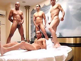 Guy fuck tgirl ass behind the scene